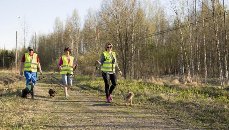 Tukikoiria lenkillä