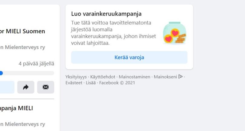Ohje Facebook-keräyksen perustamiseen